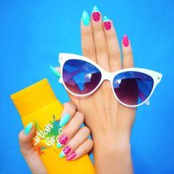 summer nails, summer holiday nails, summer gel nails