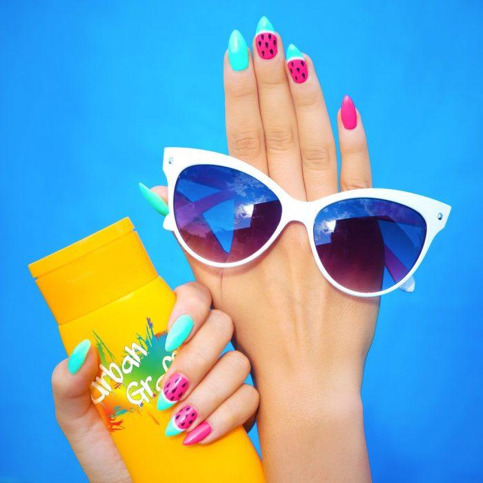 summer nails, summer holiday nails, summer gel nails, summer acrylic nails