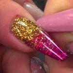 glitter nails, glitter ombre nails