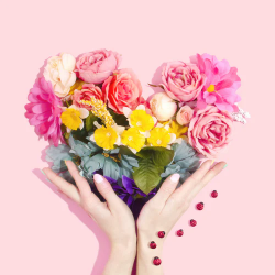 flower nails, spring nails, flower nail art