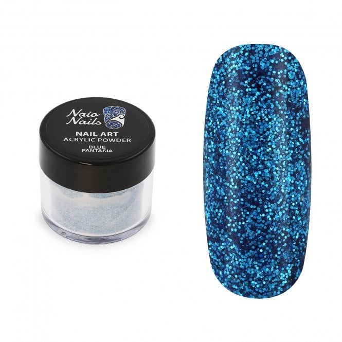 Blue Fantasia Glitter Acrylic Powder - 12g