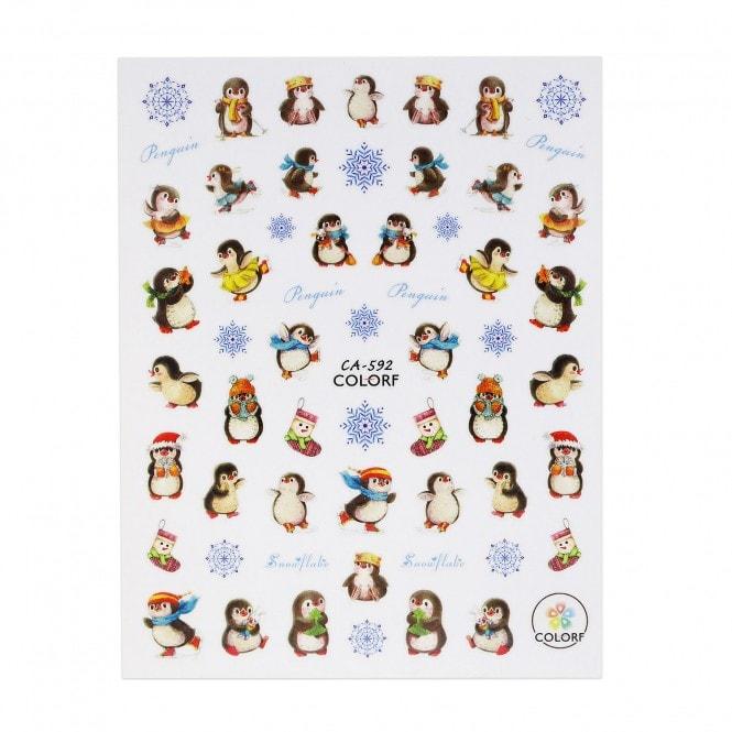 Christmas Sticker - Cozy Penguin