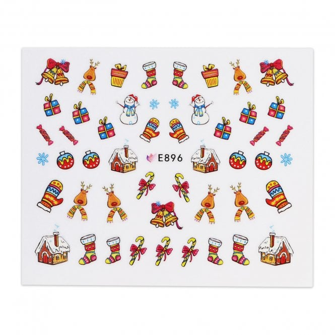 Christmas Sticker - Gingerbread House & Stockings