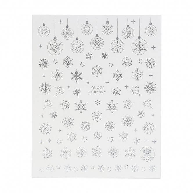 Christmas Sticker - Snowflake & Baubles