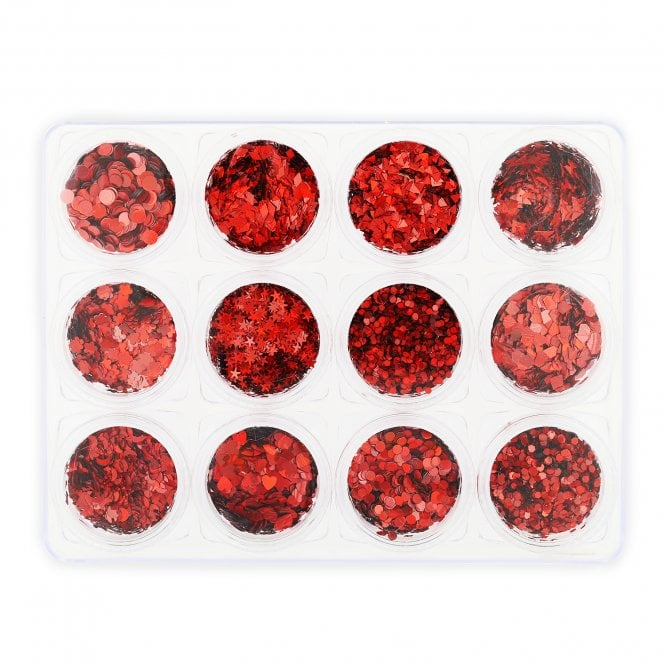 Glitter Set - NGS-003 - Chunky Red Shapes