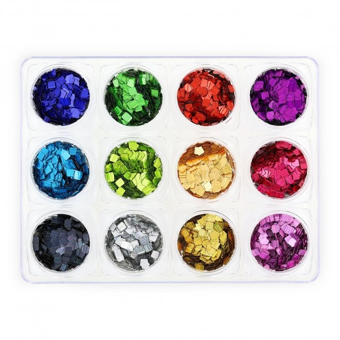 Glitter Set - NGS-009 - Multicoloured Squares
