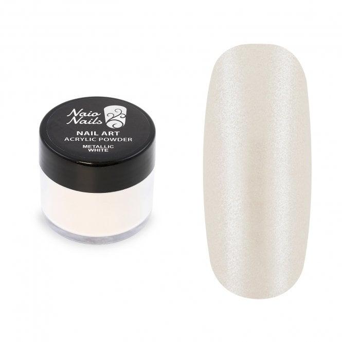 Metallic White Acrylic Powder - 12g