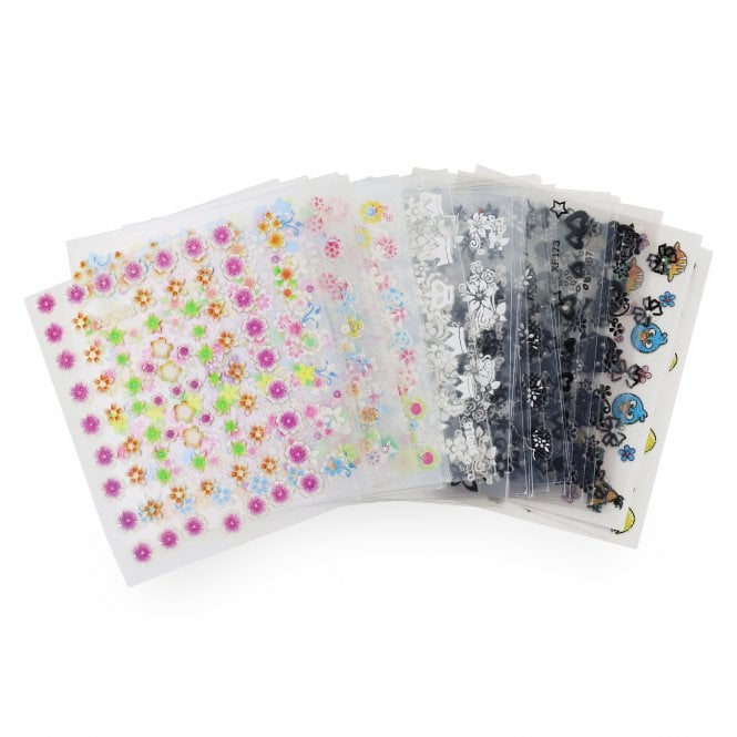 Pack of 50 Sheets of Nail Art Stickers