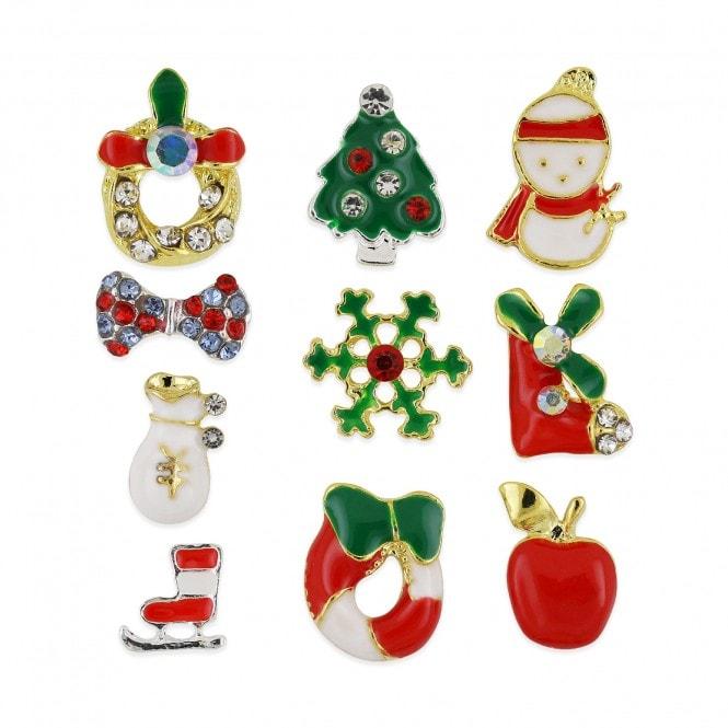 Pot of 10 Charms - Christmas Assortment - 001