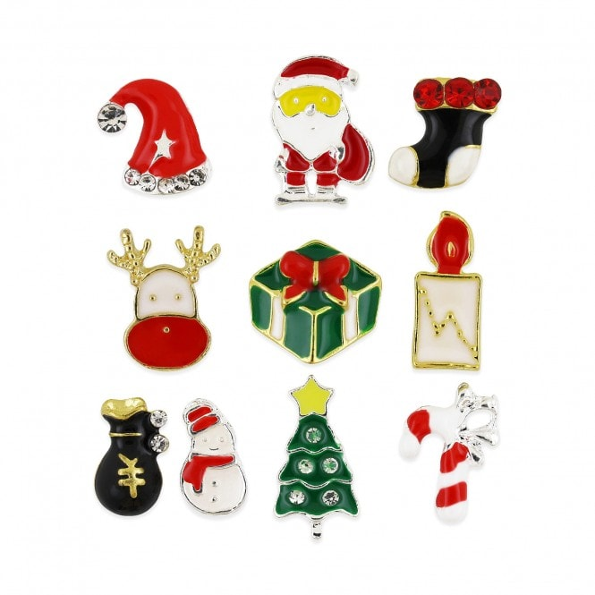 Pot of 10 Charms - Christmas Assortment - 002