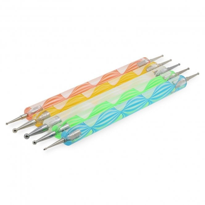 Set of 5 Multi-Coloured Dotting Tools